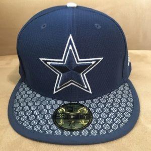 NWT New Era 59Fifty Dallas Cowboys Cap 7 1/2 NFL